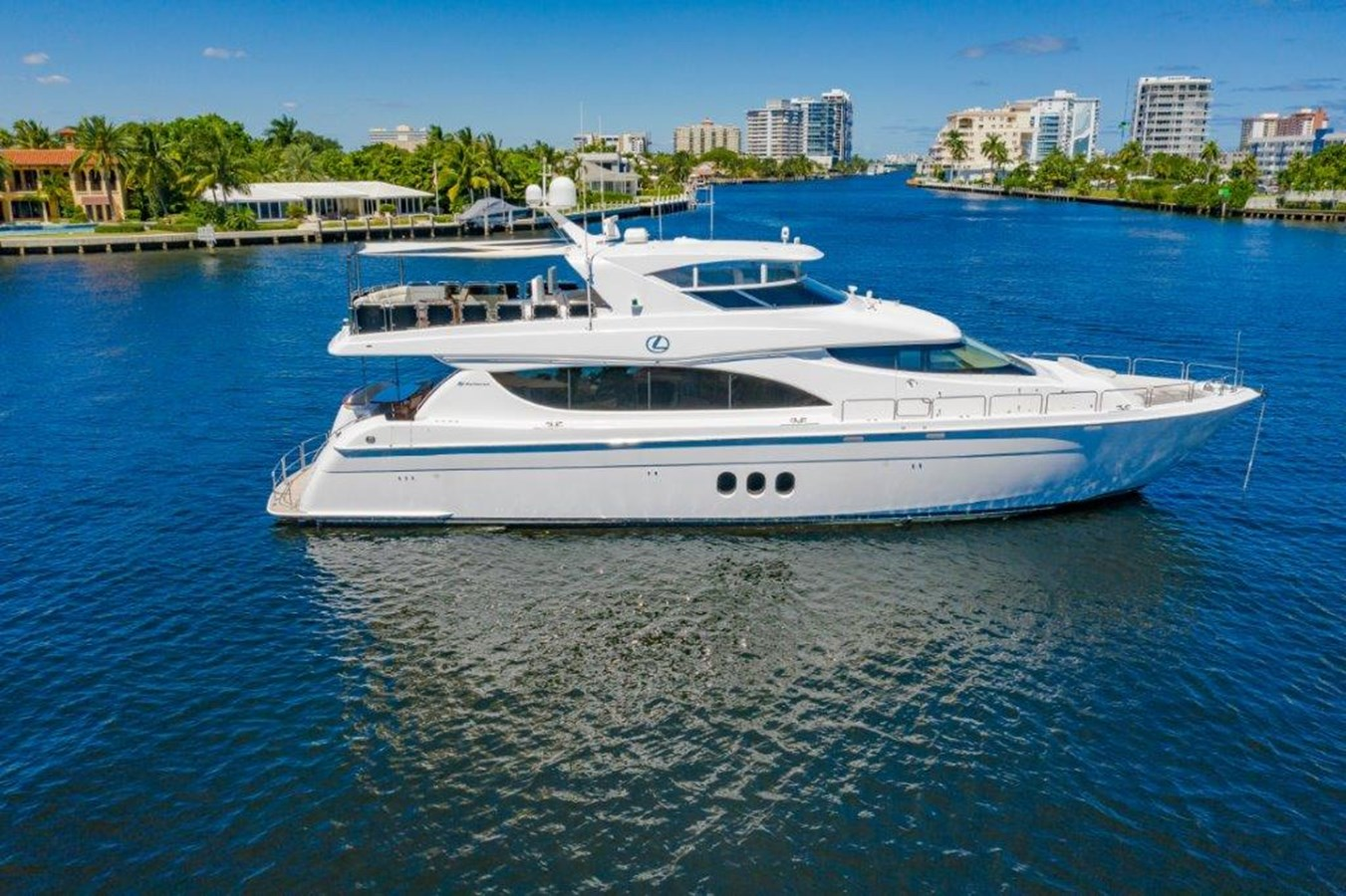 Profile on Anchor 2013 HATTERAS  Motor Yacht 2711379