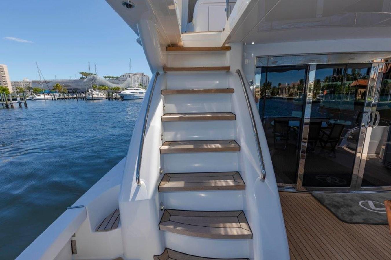 Aft  Deck Stairs to Bridge 2013 HATTERAS  Motor Yacht 2711409