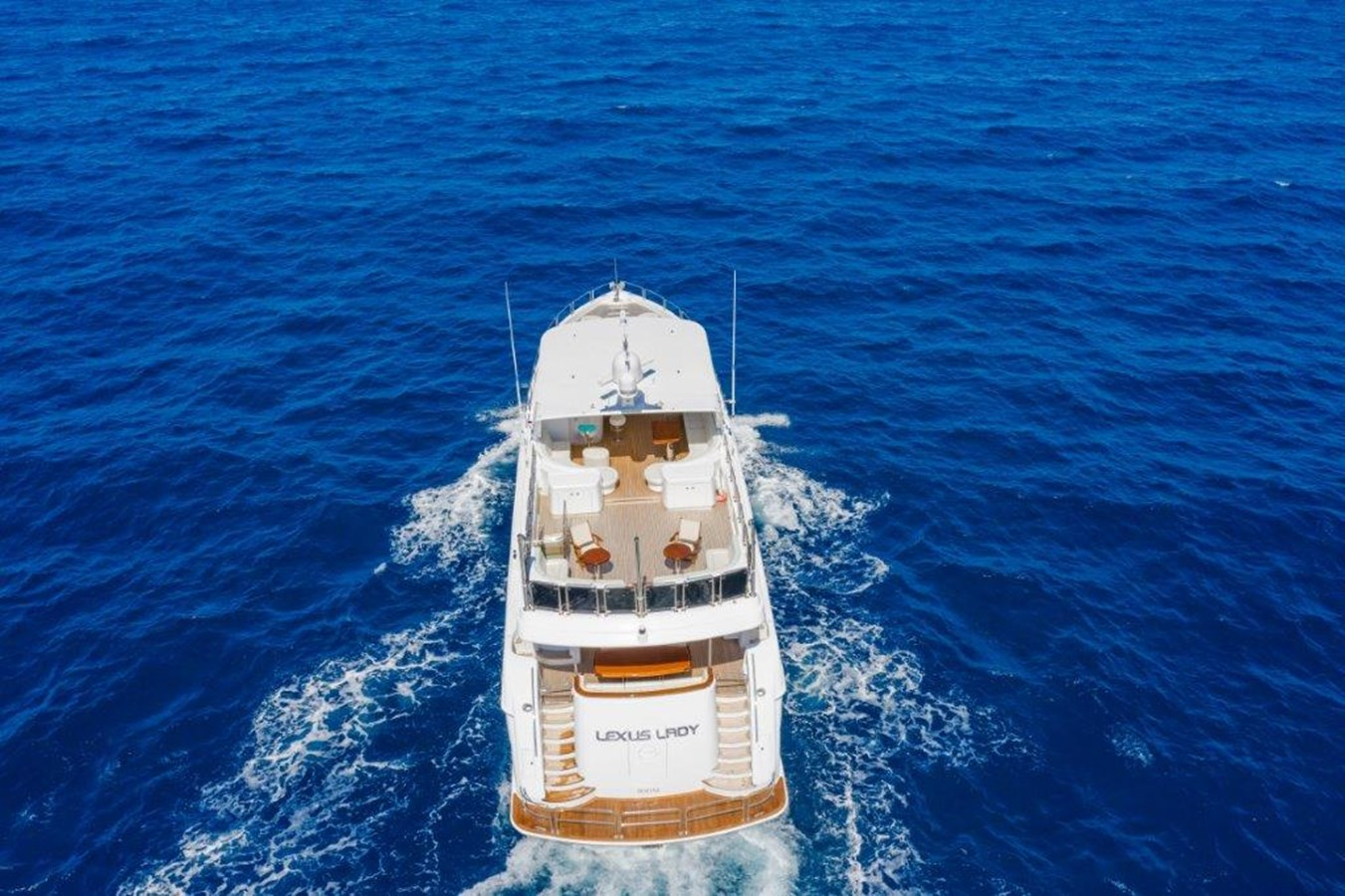 Drone Aerial at Sea 2013 HATTERAS  Motor Yacht 2711429
