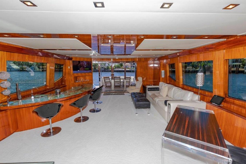 Main Salon Looking Aft 2013 HATTERAS  Motor Yacht 2711437
