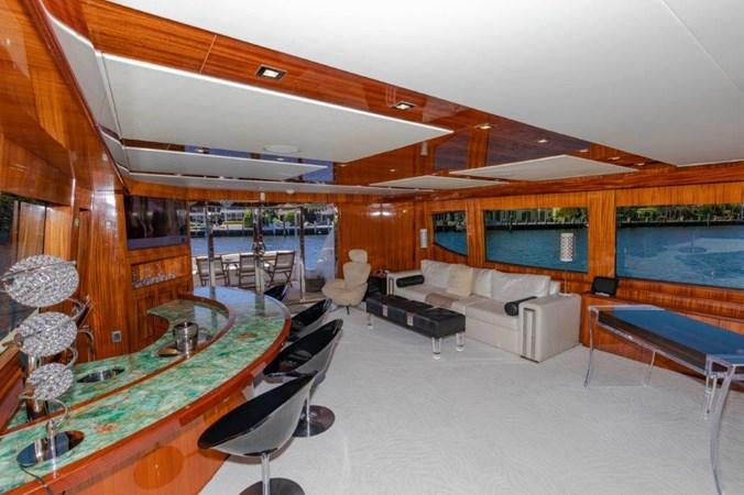 Main Salon Looking Aft  2013 HATTERAS  Motor Yacht 2711371