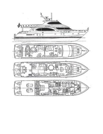 Layout 2005 HARGRAVE Sky Lounge Motor Yacht 2716504