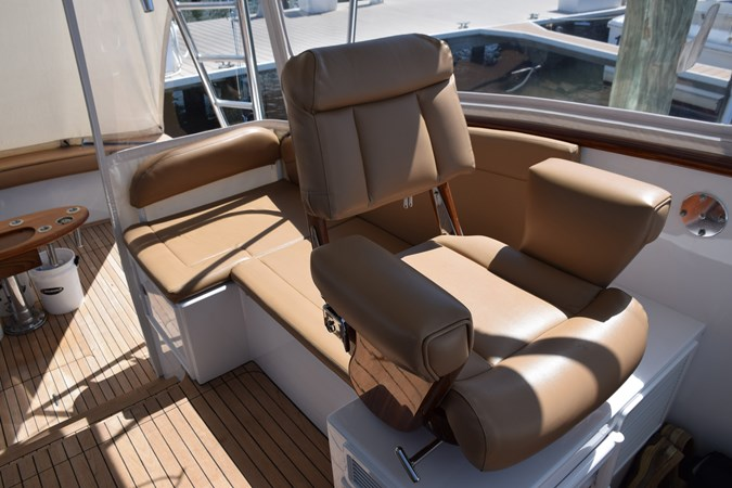 Bluewater companion chair, teak ladderback 2015 CUSTOM CAROLINA WARREN O'NEAL 2015 REBUILD Sport Fisherman 2728565