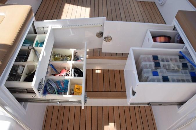 Tackle drawers easy access to cockpit 2015 CUSTOM CAROLINA WARREN O'NEAL 2015 REBUILD Sport Fisherman 2728580