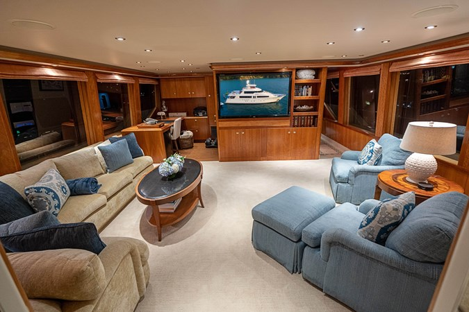 Skylounge and Office Area 2005 WESTPORT Tri-Deck MY Motor Yacht 2744189