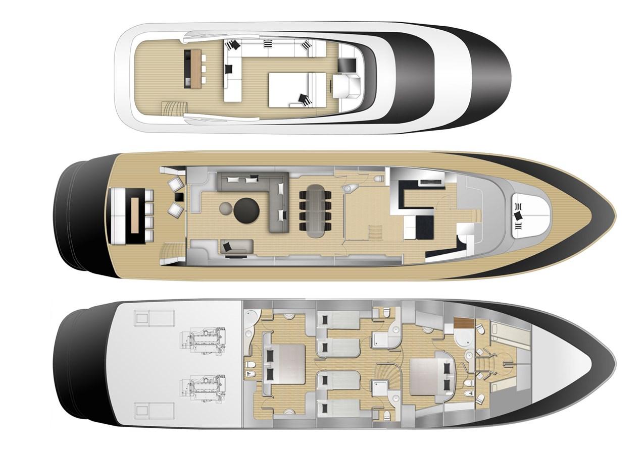 Mondomarine-85-Motor-Yacht-Petardo-LAYOUT 1995 MondoMarine 85 C Motor Yacht 2735457