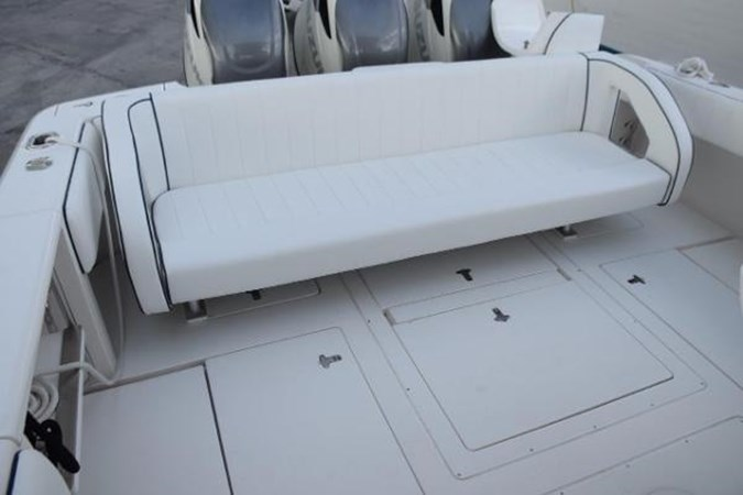 Removable rear seat 2010 INTREPID POWERBOATS INC. Intrepid Sport Yacht with Seakeeper Gyro Walkaround 2761060