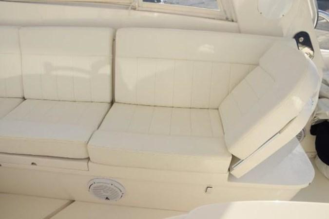 Electric raised backrest on settee 2010 INTREPID POWERBOATS INC. Intrepid Sport Yacht with Seakeeper Gyro Walkaround 2761061