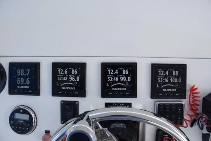 Digital engine readouts 2010 INTREPID POWERBOATS INC. Intrepid Sport Yacht with Seakeeper Gyro Walkaround 2761065