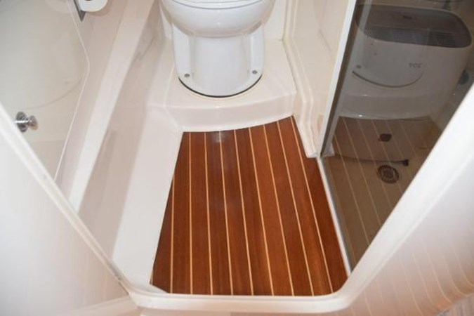 Teak and Holly galley sole 2010 INTREPID POWERBOATS INC. Intrepid Sport Yacht with Seakeeper Gyro Walkaround 2761074