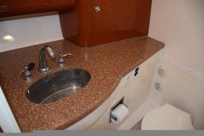 Head countertop, stainless sink 2010 INTREPID POWERBOATS INC. Intrepid Sport Yacht with Seakeeper Gyro Walkaround 2761089