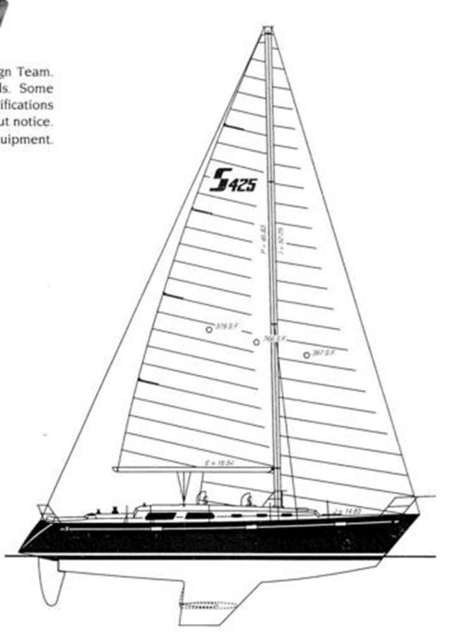 Sabre 425 Line Drawings 1992 SABRE YACHTS Sabre 425 Cruising/Racing Sailboat 2738386