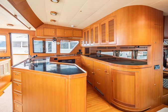 Galley Looking to Starboard 2005 MARLOW Explorer 78E Motor Yacht 2765393