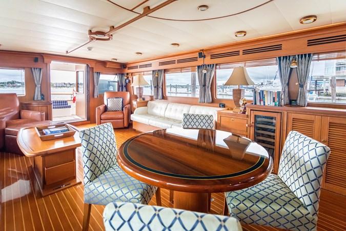 Dining/Salon Looking Aft 2005 MARLOW Explorer 78E Motor Yacht 2765408