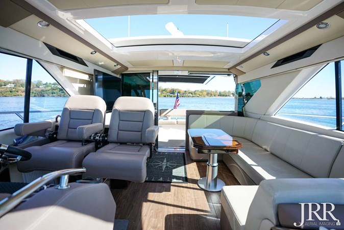 Helm Looking Aft 2017 REGAL 53 Sport Coupe Motor Yacht 2745589