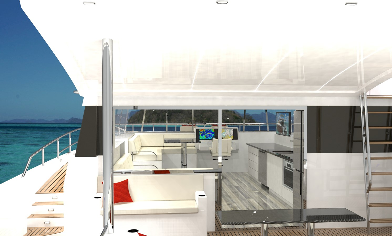SILENT YACHTS YACHTS sy44 Internal Looking in 2020 SILENT YACHTS SILENT 44 Catamaran 2747114