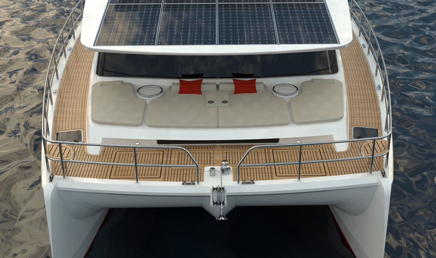 Electric Yachts Silent Yachts 44 FRONT WATER closeup 2020 SILENT YACHTS SILENT 44 Catamaran 2771191