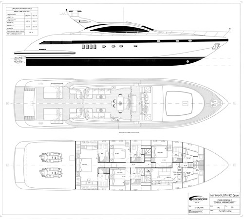 092 16 Piano Generale rev.09. (3) 2006 OVERMARINE - MANGUSTA 92  Motor Yacht 2772566