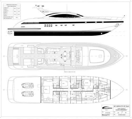 092 16 Piano Generale rev.09. (3) 2006 OVERMARINE - MANGUSTA 92  Motor Yacht 2772567