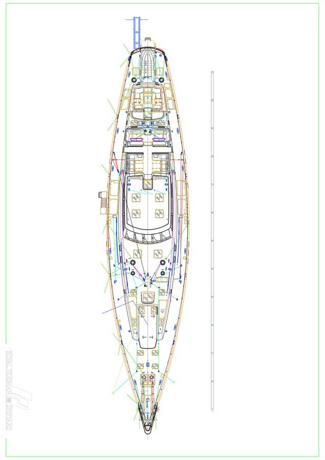 Deck Plan 1997 ROYAL HUISMAN  Cruising Ketch 2805147
