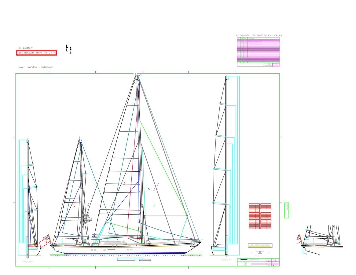 Sails & Rigging Plan 1997 ROYAL HUISMAN  Cruising Ketch 2805152