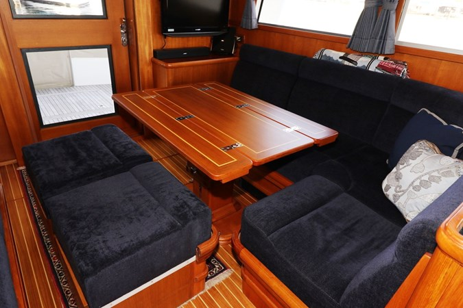 Dining Table and Settee Conversion 2008 GRAND BANKS Europa Trawler 2768905