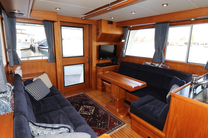 Portside Salon Looking Aft 2008 GRAND BANKS Europa Trawler 2768910