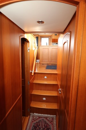 Companionway Looking Aft 2008 GRAND BANKS Europa Trawler 2768914