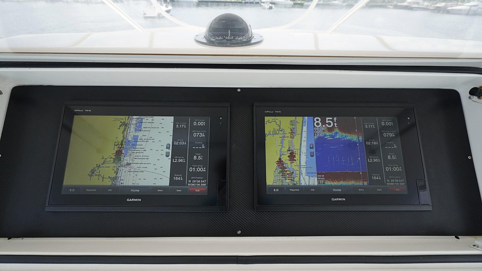 Helm Station Instruments  1999 VIKING  Sport Fisherman 2887321