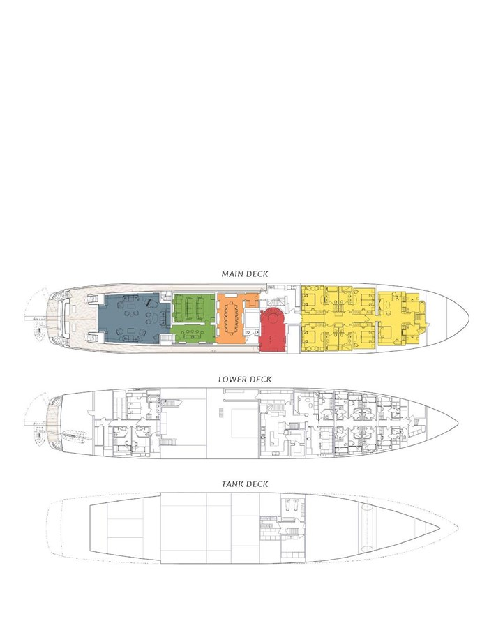 FELIX Main and Lower Decks 2007 JADEWERFT  Motor Yacht 2795072