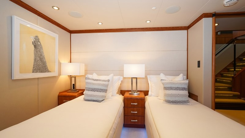 Lower Port Forward Stateroom in twin configuration 1997 CHRISTENSEN 155' Motor Yacht 2797276