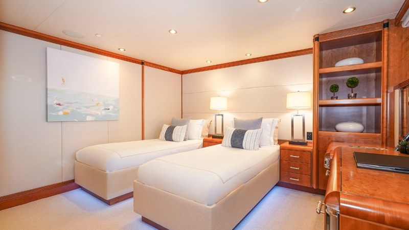 Port Aft Stateroom with convertible twins 1997 CHRISTENSEN 155' Motor Yacht 2797286