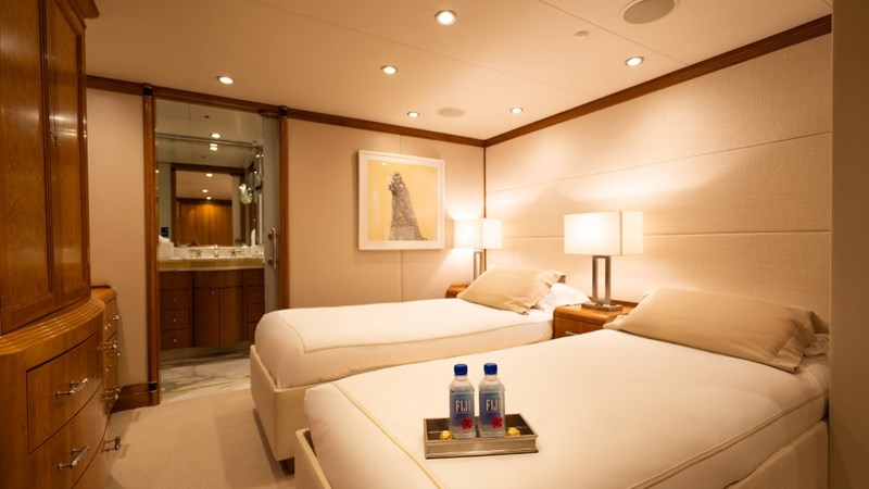 Port Forward Stateroom in twin configuration 1997 CHRISTENSEN 155' Motor Yacht 2797287