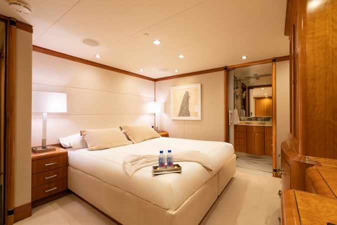 Starboard Forward Stateroom in king configuration  1997 CHRISTENSEN 155' Motor Yacht 2797288