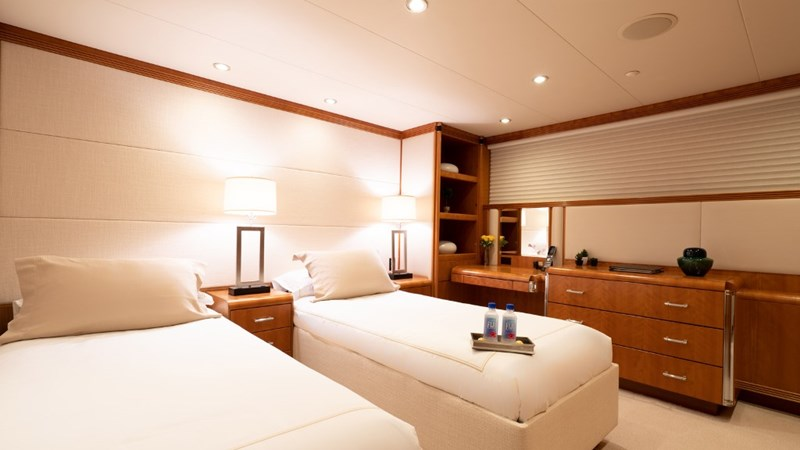 Starboard Aft Stateroom (Twin beds) 1997 CHRISTENSEN 155' Motor Yacht 2797293