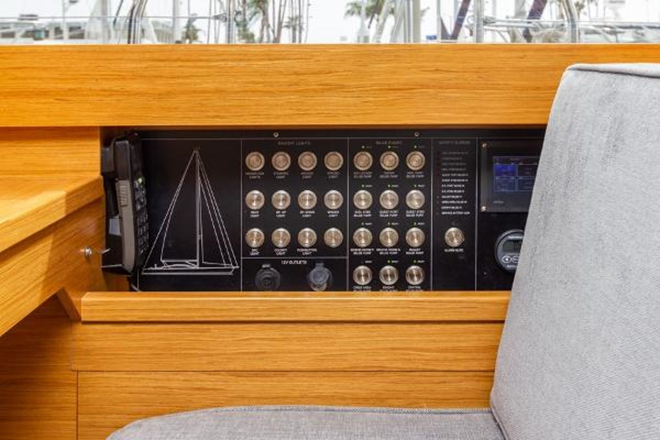 Navigation Station Electrical Panel and Auto Pilot / Engine Controls 2020 CUSTOM Farr 85 Deck Salon Deck Saloon 2798886