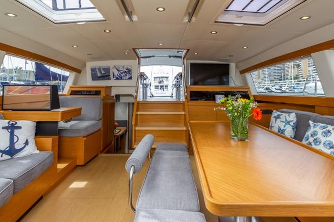 Salon Looking Aft 2020 CUSTOM Farr 85 Deck Salon Deck Saloon 2798891