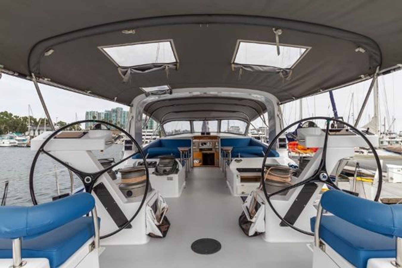 Forward View From Helms 2020 CUSTOM Farr 85 Deck Salon Deck Saloon 2798900