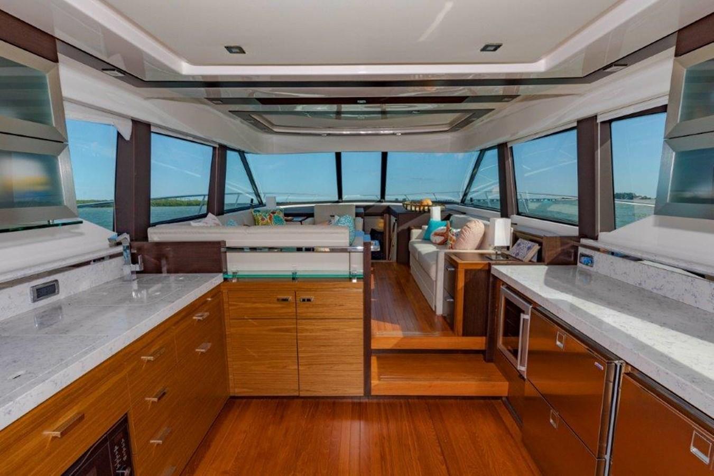 galley and salon 2017 TIARA 53 Flybridge Cruiser 2799120