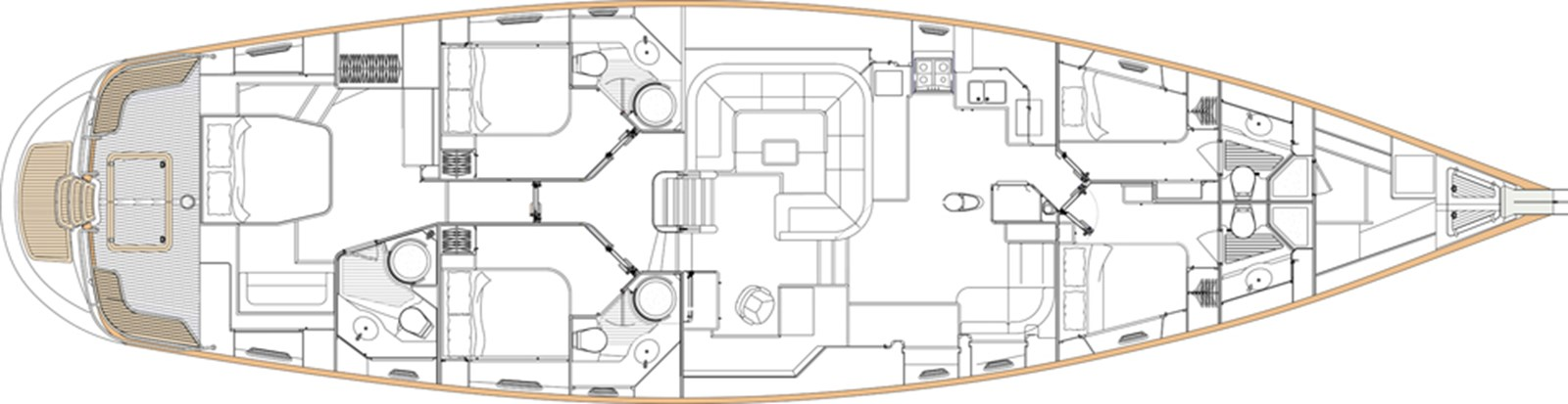 oyster-82-layout-1 2009 OYSTER MARINE LTD Oyster 82 Cruising Sailboat 2806239