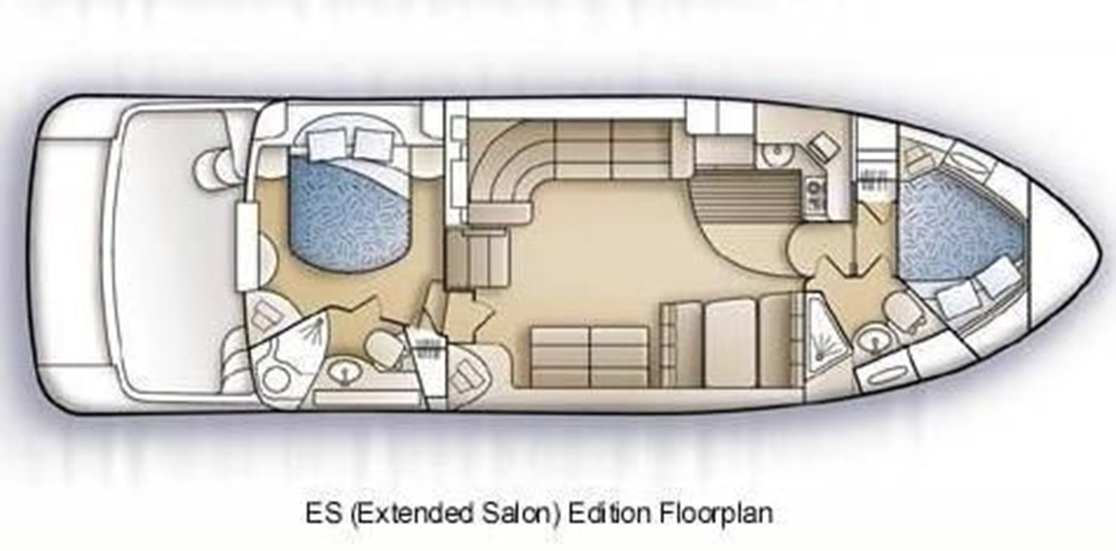 layout 2005 CARVER 444 Motor Yacht 2816796