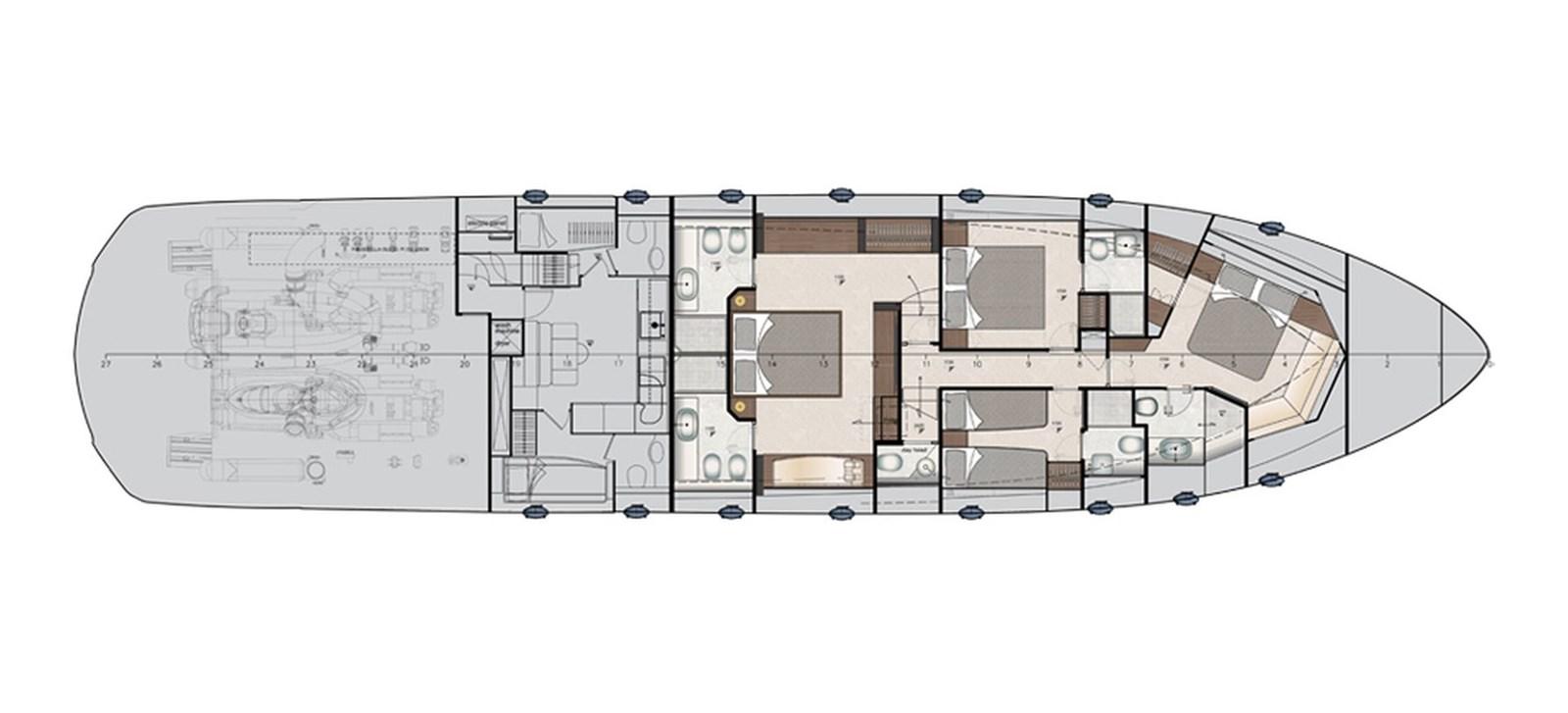 Pershing_9xNew_Lower Deck_26641 2018 PERSHING  Motor Yacht 2828978