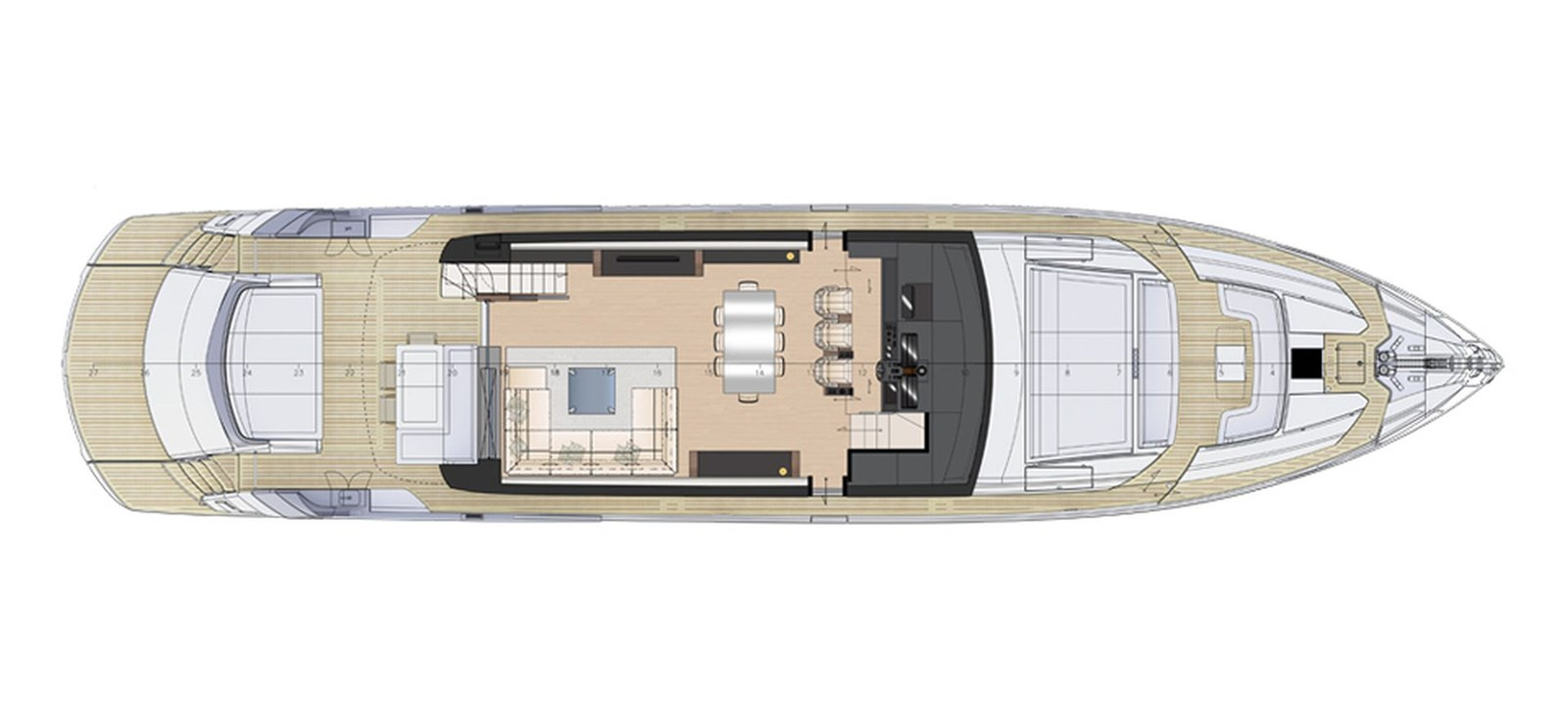 Pershing_9xNew_Main Deck_26640 2018 PERSHING  Motor Yacht 2828980