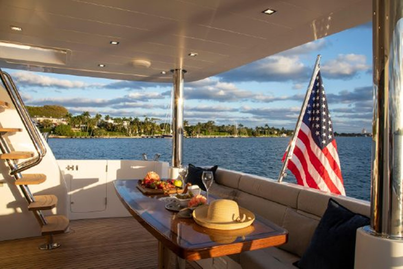Aft Deck Table and Seating 2020 REGENCY P65 Motor Yacht 2833180