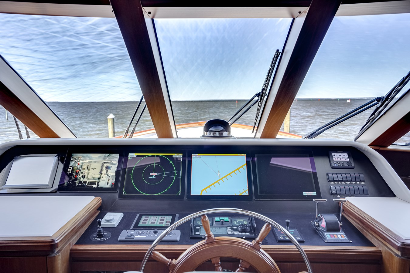 2011 85 Burger - Pilothouse Helm (1) 2001 BURGER 85 Motor Yacht Motor Yacht 2847196