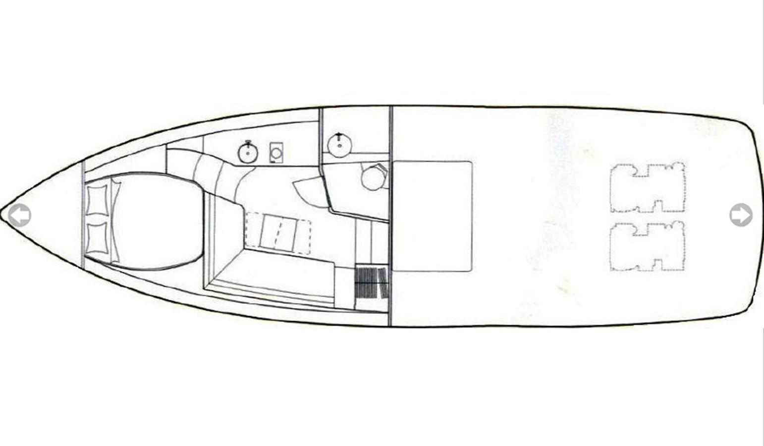Sunseeker Superhawk 43 - Layout 2007 SUNSEEKER SUPERHAWK 43 Motor Yacht 2849800