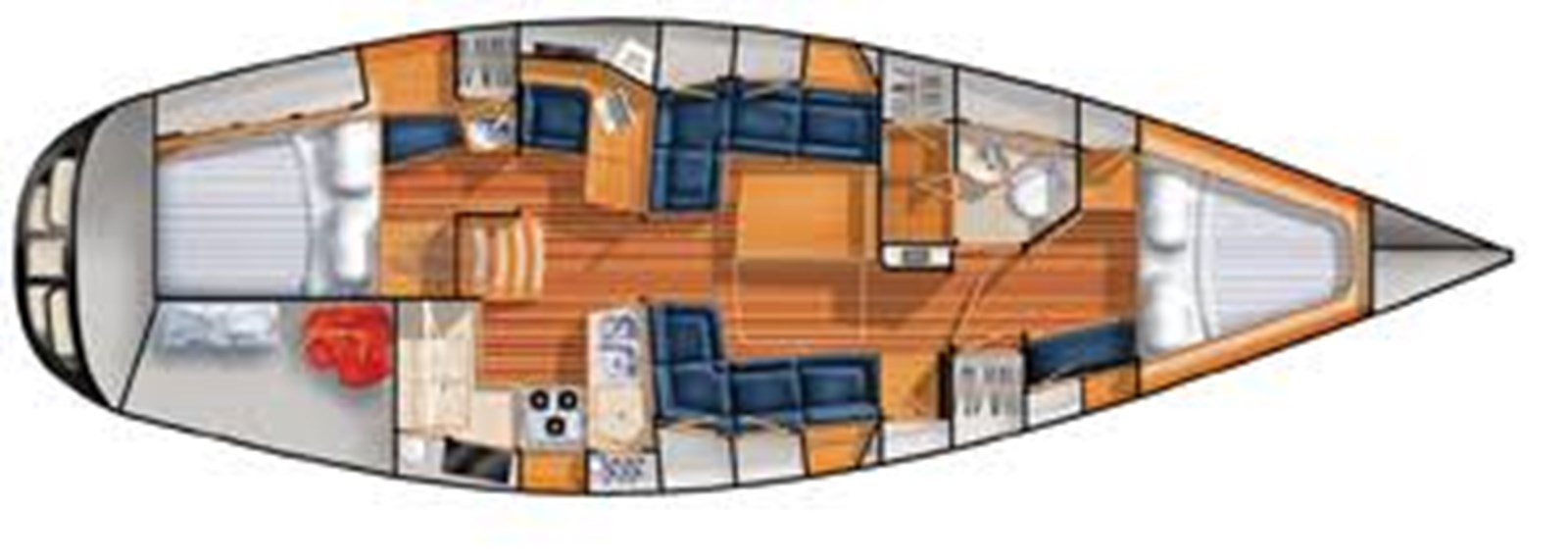 426 layout 2006 SABRE YACHTS Sabre 426 Cruising Sailboat 2858226