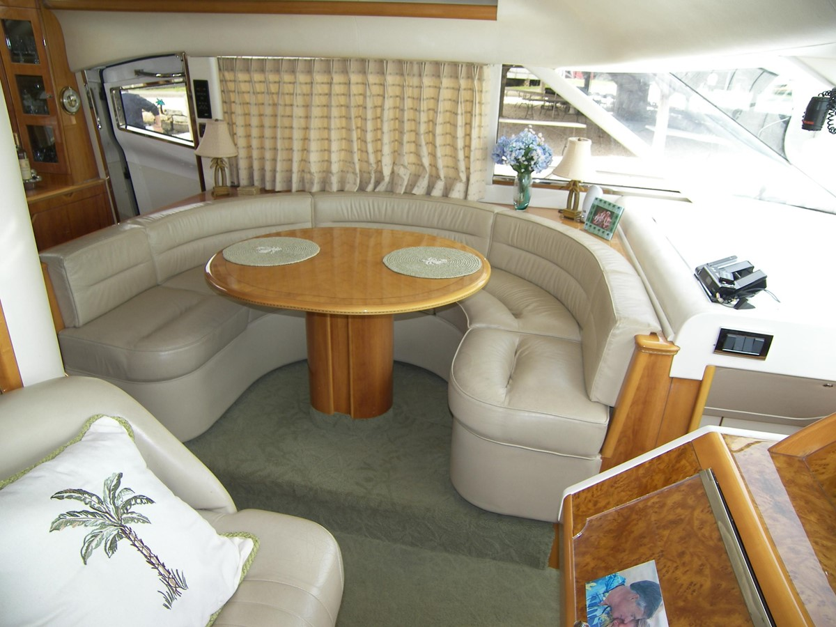 Sky Lounge Dinette Lookig from Helm 2001 VIKING SPORT CRUISERS 68 Motor Yacht  2862876