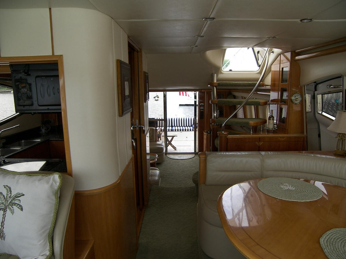 Looking Aft From Helm 2001 VIKING SPORT CRUISERS 68 Motor Yacht  2862877