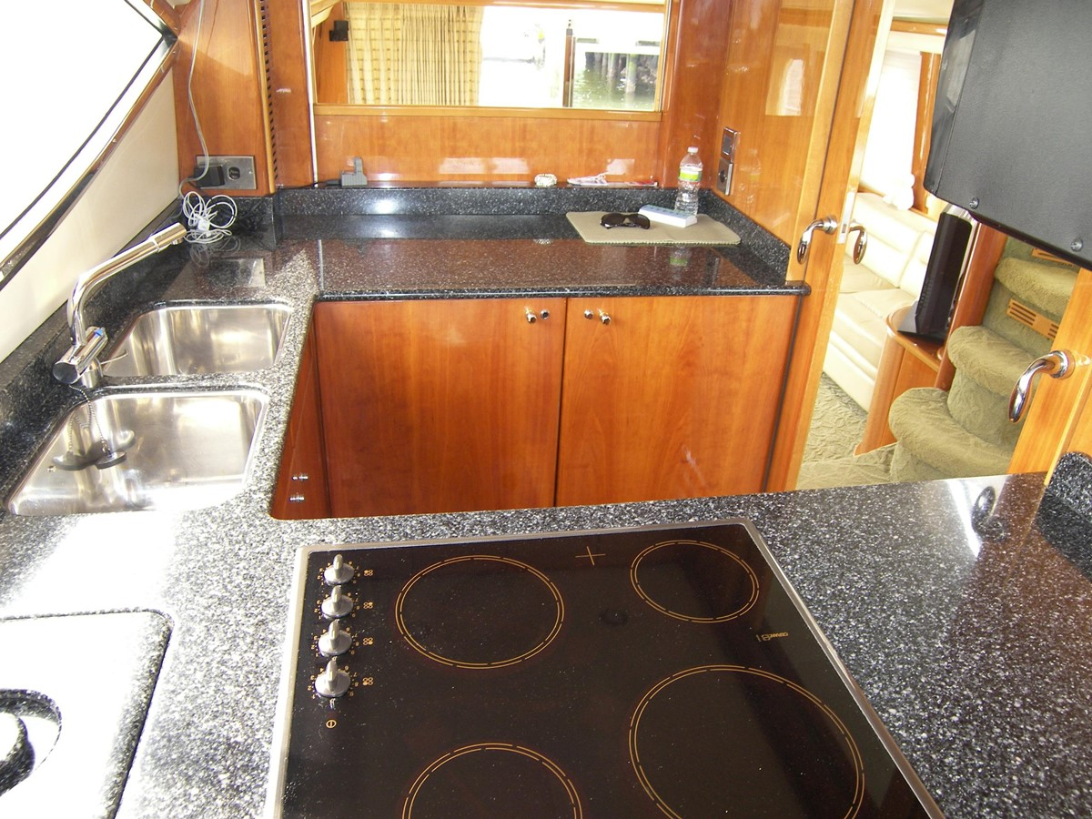 Galley looking in From Helm 2001 VIKING SPORT CRUISERS 68 Motor Yacht  2862878